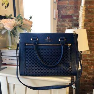Kate Spade Bundle: Blue Handbag and Wallet